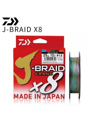 Daiwa braided line J-BRAID GRAND X8 Multicolor 150m
