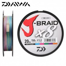 Round braided line Daiwa J-BRAID X8 Multicolor 300m