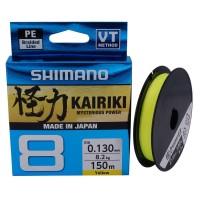 Shimano Kairiki 8 Braided Line 150m Yellow